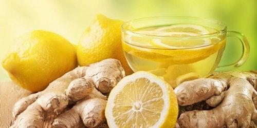 Chá de gengibre e limão
