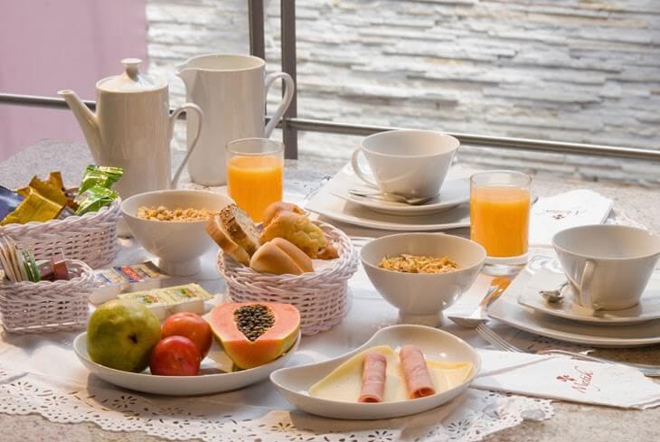 Prato do café da manhã