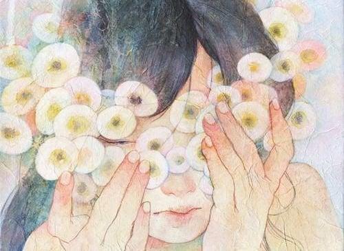 Mulher triste por causa o vazio emocional