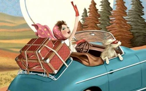 Pessoa viajando de carro