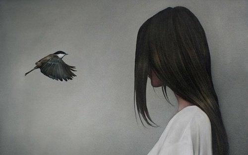 Pássaro contando fofocas