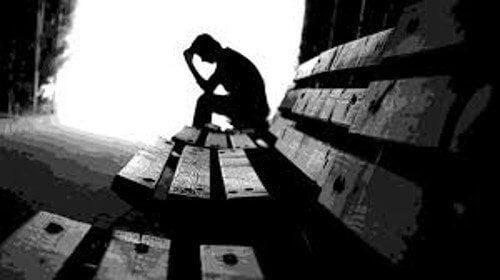 Homem depressivo