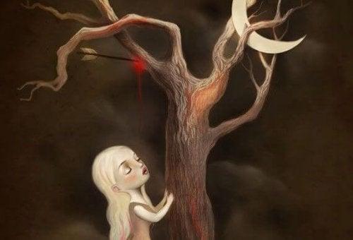 Menina na árvore