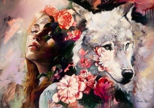 Pessoa com lobo