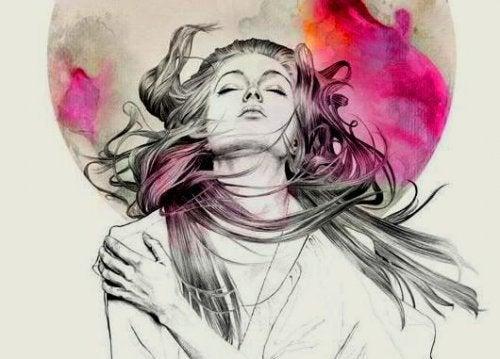 Imagem do subconsciente de uma mulher