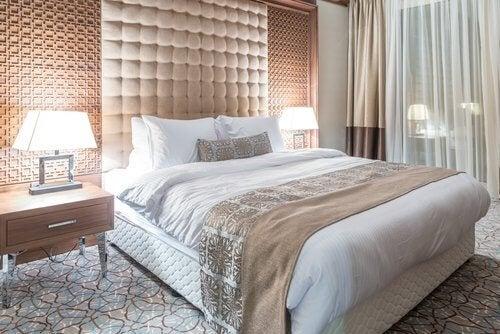 quarto aconchegante e luxuoso