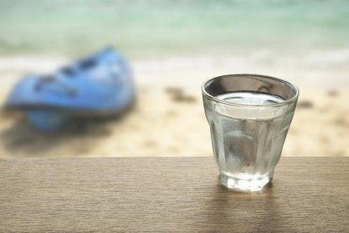 Água do mar para controlar a prisão de ventre