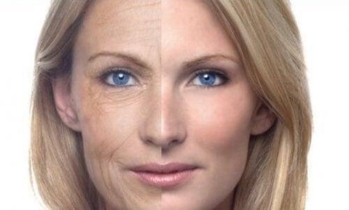 A diferença na pele de uma mulher que não gosta de beber água