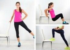 6 exercícios com uma cadeira para reduzir os pneuzinhos