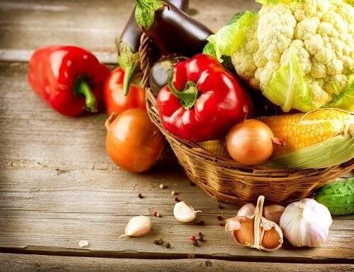 Alimentos orgânicos em uma dieta saudável