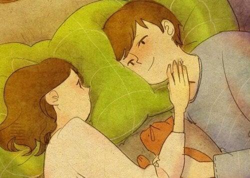 Casal que sente amor