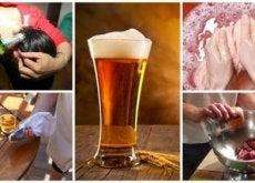 9 usos alternativos da cerveja no lar