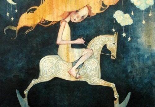 menina a cavalo