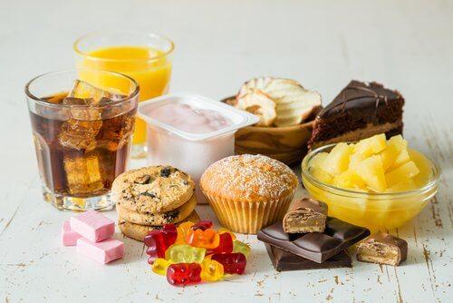 Alimentos doces são ofensivos para o rosto