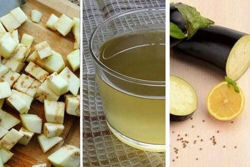 Suco natural de beringela para frear o envelhecimento