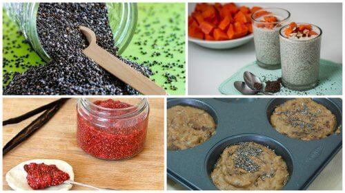 5 maneiras deliciosas de aproveitar os benefícios das sementes de chia