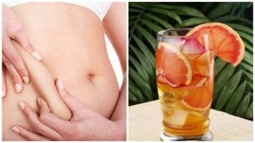 Acelere seu metabolismo com esta bebida refrescante de chá verde, toranja e menta