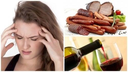 9 alimentos e bebidas que podem causar enxaqueca