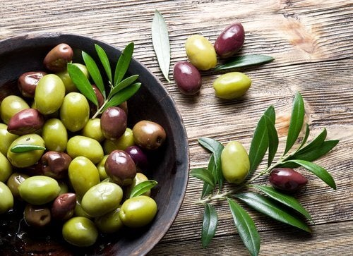 Azeitonas excelentes para repor o colágeno