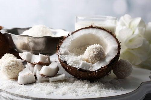 Consumir coco como alimento cru