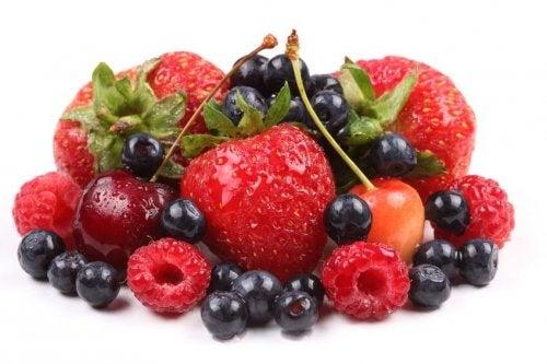 Frutas vermelhas para tratar a artrite