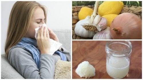 Remédio com cebola para aliviar tosse, gripe e alergias