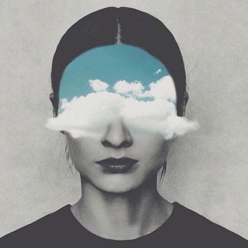 Pessoa com tormenta nos olhos