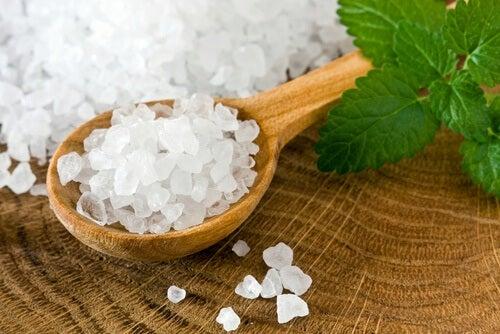Sal marinho para desinfetar frutas e verduras