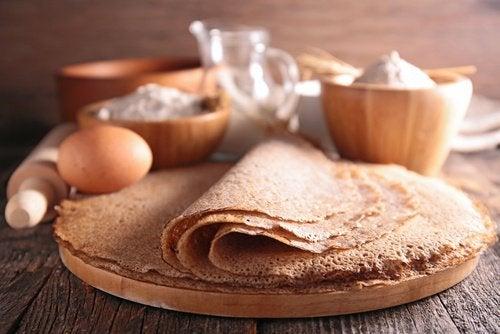 Panqueca de milho contém açúcar