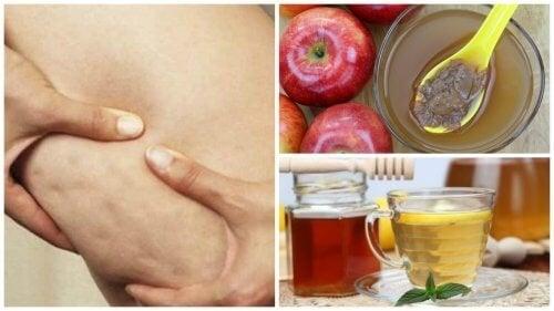Combata a celulite com esta receita natural de vinagre de maçã e mel