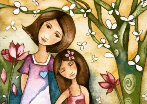 Exemplo de mãe e filha