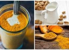 Como preparar uma bebida anti-inflamatória de açafrão e leite de amêndoas