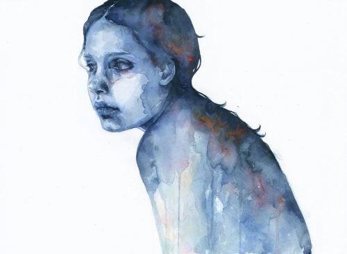 Mulher triste por conflitos internos