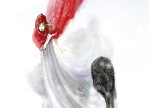 Chapeuzinho vermelho na nevecom medo