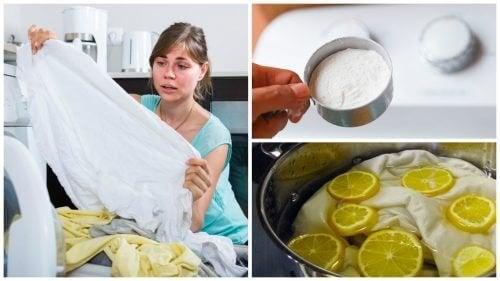 Truques para lavar roupas brancas