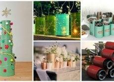 19 maneiras criativas de reciclar embalagens de lata