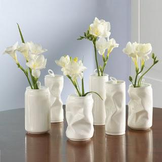 Vasos de flores reciclados
