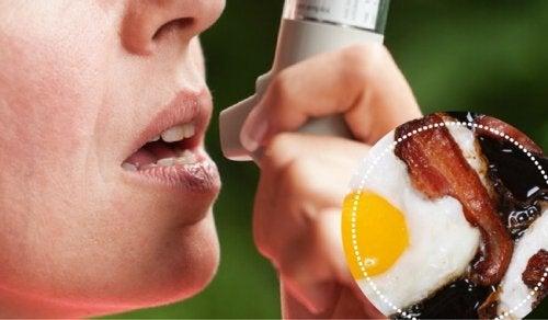 Osremédios contra asma não devem ser combinados com alimentos gordurosos