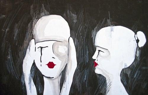 Mulheres tóxicas chorando