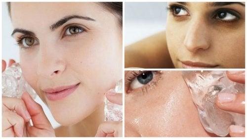 Pedra de gelo na pele: 7 benefícios