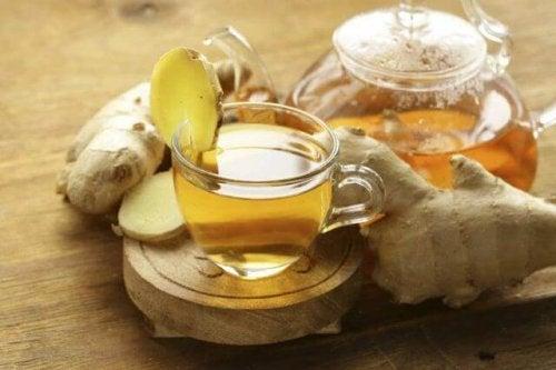 Chá de gengibre contra a infecção urinária