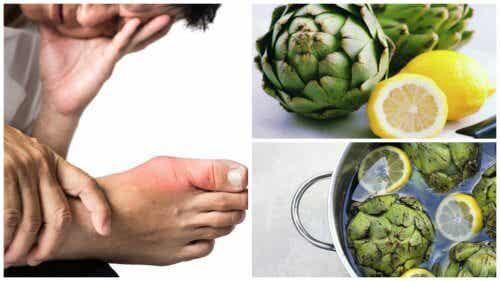 Elimine o excesso de ácido úrico do seu corpo com água de alcachofra e limão
