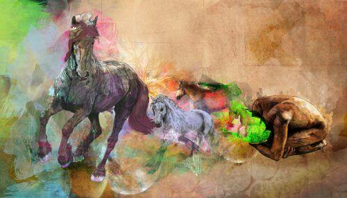Homem com mente de cavalo