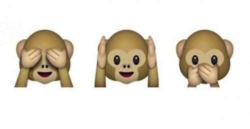 Emoji três macacos sábios
