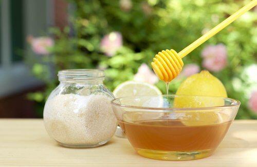 Açúcar, limão e mel
