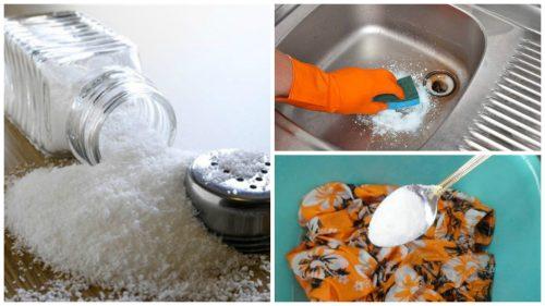 Realize suas tarefas de casa de forma ecológica com esses 7 truques com sal