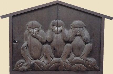 O ensinamento dos três macacos sábios