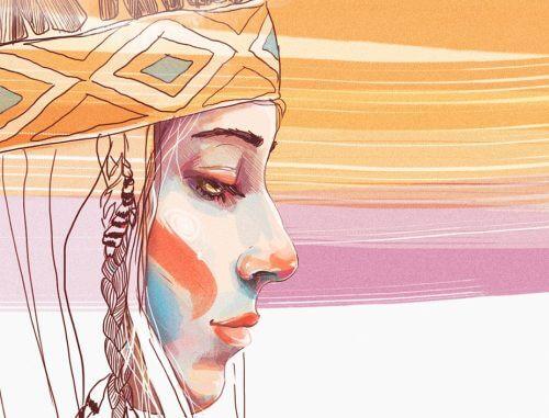Passar a borracha no desenho da índia