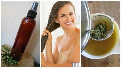 Condicionador de ervas e vinagre para fortalecer o cabelo