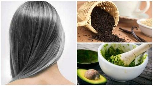 Reduza o surgimento precoce dos cabelos brancos com estes 6 remédios caseiros